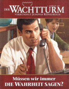 """Zeitschrift der Sondergemeinschaft """"Jehovas Zeugen"""""""