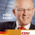 Kandidatenprospekt Volker Kauder. Foto: PR