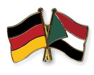 Freundschaftspin mit der deutschen und der sudanesischen Flagge - Foto: www.flags.de