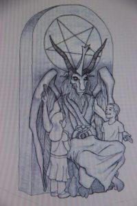 Geplante Satansstatue in Oklahoma. Foto: screenshot