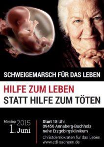Plakatwerbung für den Schweigemarsch, Foto: CDL Sachsen