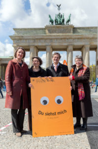 Ellen Ueberschär, Christina Aus der Au, Markus Dröge, Ilse Junkermann (v.l.). Foto: kirchentag.de