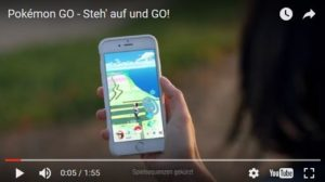 "Screenshot aus dem Werbefilm ""Pokemon Go"". Quelle:  pokemon.com"