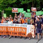 """700 Teilnehmer beim """"Schweigemarsch für das Leben"""""""